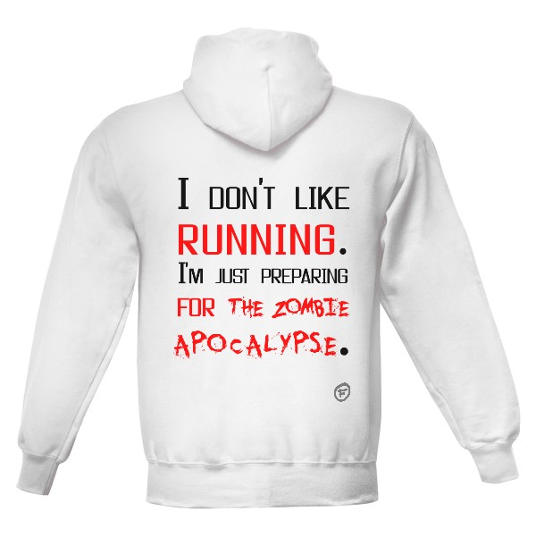 a3f7e78240a Pánská mikina s kapucí s potiskem Don t like running